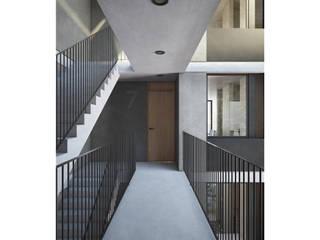 Deptos Lomalinda 9 Pasillos, vestíbulos y escaleras modernos de NAAG arquitectura Moderno