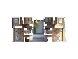 Deptos Lomalinda 9 Casas modernas de NAAG arquitectura Moderno