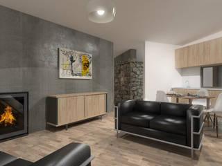 Wall House Salas de estar modernas por Limit Studio Moderno