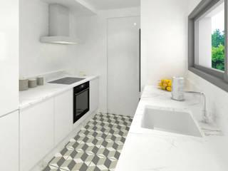 Trenta Casas Prefabricadas de Hormigón en Madrid Modern Kitchen Concrete White