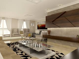 Projeto - Reforma residencial : Salas de estar  por Vilaville