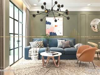 Thiết kế nội thất chung cư tòa A1 An Bình City - 74.7m2 - Anh Phùng bởi Thiết kế - Nội thất - Dominer