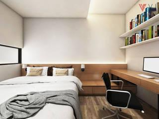 Tomang Residence Kamar Tidur Gaya Skandinavia Oleh PT VISIO GEMILANG ABADI Skandinavia