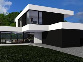 DOM W MIKOŁOWIE / ŁUKASZ ŁADZIŃSKI ARCHITEKT: styl , w kategorii Domy zaprojektowany przez ŁUKASZ ŁADZIŃSKI ARCHITEKT