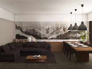 Salones de estilo moderno de ALESSIO LO BELLO ARCHITETTO a Palermo Moderno