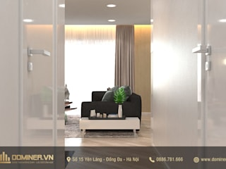Thiết kế nội thất chung cư CT1 Mỹ Đình Plaza 2 – Anh Khánh bởi Thiết kế - Nội thất - Dominer