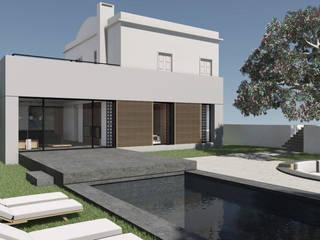 Villa R J Piscina moderna di ALESSIO LO BELLO ARCHITETTO a Palermo Moderno