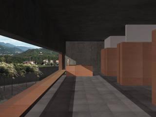 Cantine Val d'Oca Spazi commerciali moderni di ALESSIO LO BELLO ARCHITETTO a Palermo Moderno