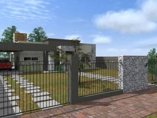 Casas unifamiliares de estilo  por Arquitecto Emiliano Quintero, Moderno