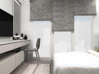 MWM_60m2 Nowoczesna sypialnia od 91m2 Architektura Wnętrz Nowoczesny