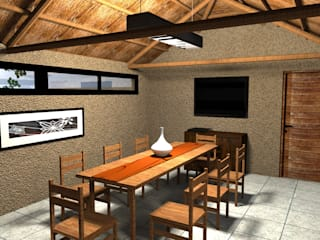 Dining room by Arquitecto Emiliano Quintero, Modern