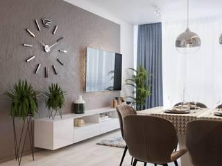 Квартира 3-х комнатная, ЖК «Варшавский», г. Киев: Гостиная в . Автор – Vinterior - дизайн интерьера