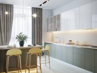 Квартира 4-х комнатная, ул. Красноткацкая, г. Киев: Кухни в . Автор – Vinterior - дизайн интерьера