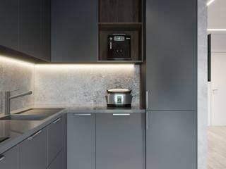 Квартира 2-х комнатная, ЖК «Французский квартал-2», г. Киев: Кухни в . Автор – Vinterior - дизайн интерьера