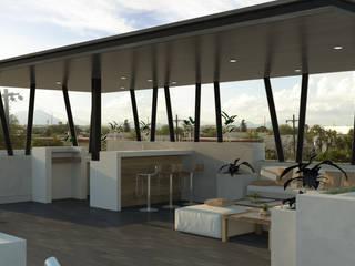 Casa Aleman Balcones y terrazas modernos de Doslunas Moderno