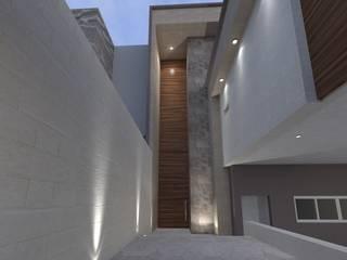 Casa Inglaterra Pasillos, vestíbulos y escaleras modernos de Doslunas Moderno