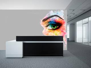 Papel tapiz personalizado para tu oficina Paredes y pisos de estilo moderno de Kromart Wallcoverings - Papel Tapiz Personalizado Moderno