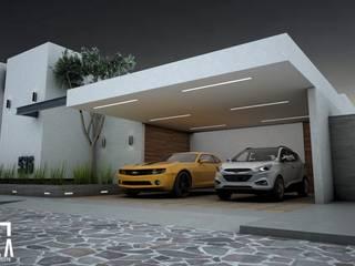 Casa GA: Casas unifamiliares de estilo  por Osuna Arquitecto