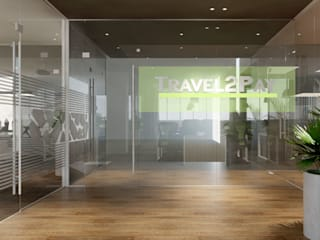 thiết kế nội thất văn phòng hiện đại HCM travel 2 Pay:  Cửa kinh by công ty thiết kế văn phòng hiện đại CEEB