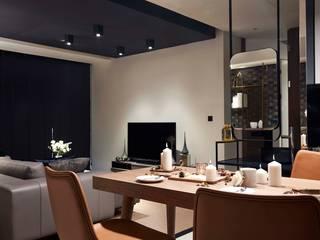 信義區實品屋室內設計 2 :  餐廳 by 泫工所構築設計研究室