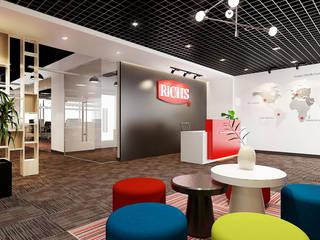 thiết kế văn phòng hiện đại RICH office sang trọng & độc đáo tại HCM:  Phòng giải trí by công ty thiết kế văn phòng hiện đại CEEB