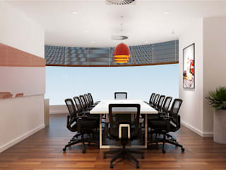 thiết kế văn phòng hiện đại RICH office sang trọng & độc đáo tại HCM:  Phòng học/Văn phòng by công ty thiết kế văn phòng hiện đại CEEB