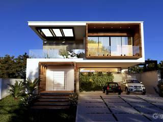 Casa Contemporânea – Casa BM: Condomínios  por Gelker Ribeiro Arquitetura | Arquiteto Rio de Janeiro,Mediterrâneo