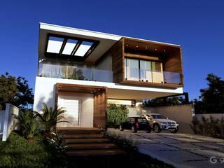 Casa Contemporânea – Casa BM: Condomínios  por Gelker Ribeiro Arquitetura | Arquiteto Rio de Janeiro,Moderno