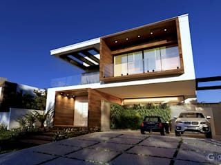 Casa Contemporânea – Casa BM: Casas familiares  por Gelker Ribeiro Arquitetura | Arquiteto Rio de Janeiro,Moderno