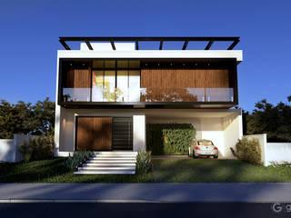 Casa Contemporânea – Casa CB: Condomínios  por Gelker Ribeiro Arquitetura | Arquiteto Rio de Janeiro,Moderno