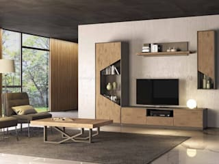 Decordesign Interiores Living roomShelves Chipboard Wood effect