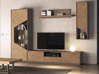 Decordesign Interiores SalasEstanterías Aglomerado Acabado en madera