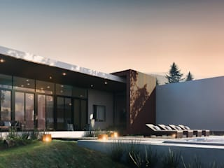 Presa de la Boca: Terrazas de estilo  por WAWO Arquitectos