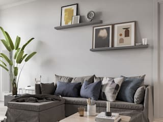 Квартира в скандинавском стиле: Гостиная в . Автор – УММ5,