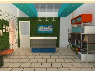 Remodelacion Veterinaria Espacios comerciales de estilo moderno de D8 Diseño de Interiores Moderno