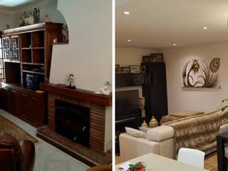 Moderne Wohnzimmer von Obr&Lar - Remodelação de Interiores Modern