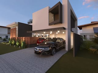 Maison individuelle de style  par Alessandro Ramos Arquitetura, Moderne