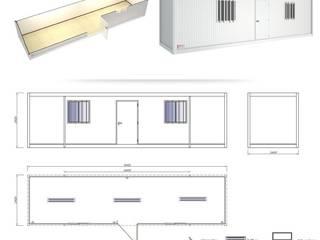 Cabina Modular: Espacios comerciales de estilo  por P&S Global Mining SAC