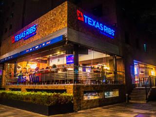 TEXAS RIBS INSURGENTES Gastronomía de estilo rústico de AM MAS ARQUITECTOS Rústico