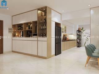 Thiết kế nội thất căn hộ chung HaDo Centrosa Garden 86m2 có 2 phòng ngủ - Cô Hồng, Quận 10, TP.HCM bởi Công ty TNHH Nội Thất Mạnh Hệ Hiện đại