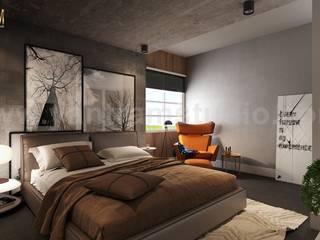 Modern Master Bedroom Design Concept with Interior Rendering Services by Yantram Architectural Modeling Firm, Paris – France Yantram Architectural Design Studio Modern
