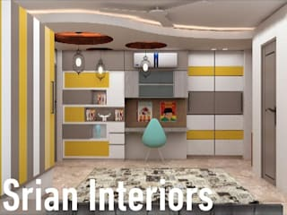 BEDROOM DESIGNS:  Small bedroom by SRIAN INTERIORS