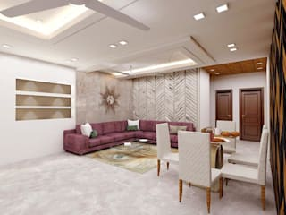LIVING ROOM:  Living room by SRIAN INTERIORS
