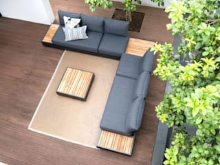 ZEBRA Cubo Lounge ZEBRA GartenMöbel Holz Grau