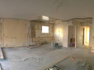 rénovation appartement Salon moderne par Gattepaille architecture Moderne