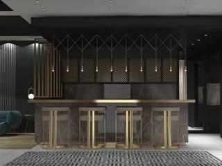 Villa 11 Deev Design Moderne woonkamers Zilver / Goud Amber / Goud