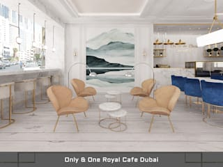 Only & One Royal Cafe:  Bars & clubs door Deev Design, Modern