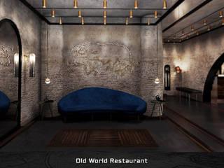 Old World Restaurant Deev Design Moderne gastronomie IJzer / Staal Blauw