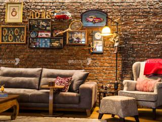 Zekeriyakoy Housing Salones de estilo ecléctico de Artstone Ecléctico