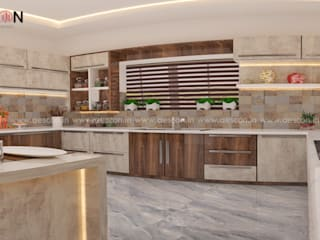 Asian style kitchen by Aescon Builders and Architects Asian